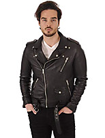 cheap -men's leather jacket lambskin bomber motorcycle biker xx-large black