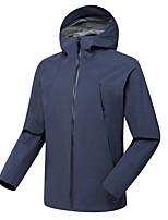 cheap -Men's Hiking Windbreaker Winter Outdoor Solid Color Waterproof Windproof Warm Soft Winter Jacket Fishing Climbing Camping / Hiking / Caving White Black Blue