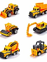 cheap -6 pcs truck toy playset for toddlers, racing alloy diecast dumper crane truck vehicles kits, indoor outdoor games for kids (multicolored)