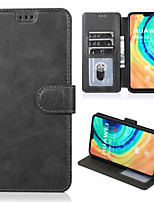 cheap -Case For Huawei Huawei P smart / Huawei P Smart Plus 2019 / Huawei Honor 10 Shockproof Full Body Cases Solid Colored PU Leather / TPU
