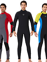 cheap -Dive&Sail Men's Full Wetsuit 5mm CR Neoprene Diving Suit Windproof Quick Dry Long Sleeve Back Zip Solid Colored Autumn / Fall Spring Summer