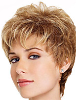 cheap -Synthetic Wig Straight Pixie Cut Wig Short Blonde Synthetic Hair Women's Soft Color Gradient Ombre Hair Blonde