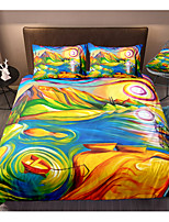 cheap -3D World Print 3-Piece Duvet Cover Set Hotel Bedding Sets Comforter Cover with Soft Lightweight Microfiber, Include 1 Duvet Cover, 2 Pillowcases for Double/Queen/King(1 Pillowcase for Twin/Single)