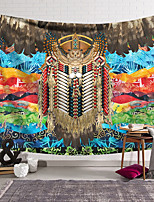 cheap -Wall Tapestry Art Decor Blanket Curtain Hanging Home Bedroom Living Room Decoration Polyester Fiber Color Pattern Feather Owl Lanting Design Style