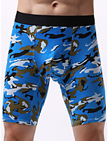 cheap -Men's 1 Piece Print Boxers Underwear - Normal Low Waist Light Blue Blue Red L XL XXL