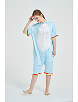 cheap -Adults' Kigurumi Pajamas Unicorn Onesie Pajamas Pure Cotton Blue Cosplay For Men and Women Animal Sleepwear Cartoon Festival / Holiday Costumes