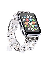 cheap -for iwatch strap, [jewel series] handmade elastic stretch faux agate and crystal bracelet replacement with women/girls wristband for iwatch series 4/3/2/1 all version (42mm /44mm white)