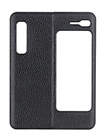 cheap -Case For Samsung Galaxy Galaxy Fold W20 5G Shockproof Back Cover Solid Colored Genuine Leather