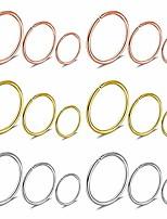 cheap -18pcs 18g 316l stainless steel nose ring hoop cartilage hoop septum piercing for women men girls 6mm 8mm 10mm silver-tone rose gold