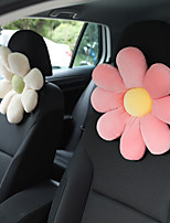 cheap -Car plush headrest creative sun flower car neck pillow back pillow lumbar head support cushion women's car interior accessories