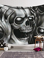 cheap -Wall Tapestry Art Decor Blanket Curtain Hanging Home Bedroom Living Room Decoration Polyester Fiber Novelty Still Life Black and White Gray Skull Skull Hands Holding Head P
