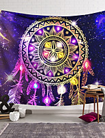 cheap -Mandala Bohemian Wall Tapestry Art Decor Blanket Curtain Hanging Home Bedroom Living Room Decoration Boho Hippie Indian Polyester Psychedelic Dream Catcher Crystal Sky