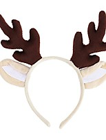 cheap -chrismas decoration  reindeer antler hair hoop christmas kids headband headwear for children christmas costume party (brown)