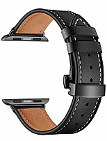 cheap -compatible with apple watch series 4 3 2 1 38mm 40mm 42mm 44mm watch strap, black butterfly buckle classic genuine leather replacement band (black, 40mm)