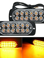 cheap -2Pcs 12V 12 LED Light Bar Amber Car Truck Side Marker Light Turn Light Bar Indicators Lamp Hazard Beacon Warning Lamp