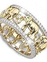 cheap -yellow gold beautiful elephant animal ring lucky elephant ring