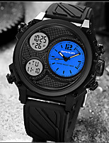 cheap -SANDA Men's Digital Watch Digital Sporty Classic Water Resistant / Waterproof Analog - Digital White Black Blue / One Year / Rubber / Japanese
