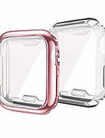 cheap -compatible for apple watch 4 case 40mm 44mm, iwatch screen protector tpu all-around protective case hd clear ultra-thin cover compatible with new apple watch series 4 (rose pink+clear, 44mm)