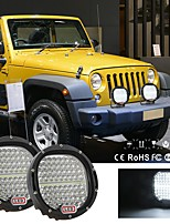 cheap -1Pcs 7 Inch 6000K IP68 Waterproof LED Driving Lights Spot Spotlights Round Work Offroad Lamp Round Car Off-road Vehicle Spotlight Black
