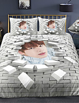 cheap -BTS Series 3-Piece Duvet Cover Set Hotel Bedding Sets Comforter Cover with Soft Lightweight Microfiber For Holiday Decoration(Include 1 Duvet Cover and 1or 2 Pillowcases)