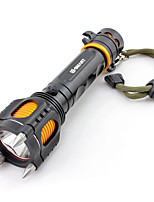 cheap -LED Flashlights / Torch Waterproof 18.5*3*4 lm LED Emitters Manual Mode with Battery and Charger Waterproof Portable Camping / Hiking / Caving Everyday Use Cycling / Bike White Light Source Color