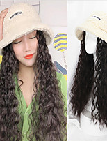 cheap -Cosplay Costume Wig Curly Neat Bang Wig Long White Synthetic Hair Women's Classic Black Brown