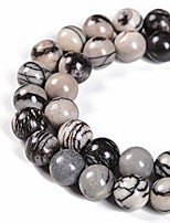 cheap -spider web jasper beads 1 strand natural semi precious beads round smooth gemstones loose spacer beads charms for necklaces bracelets jewelry making (spider web jasper, 6mm 60beads)