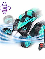 cheap -rc car 360 degree flips,remote control car,flexible remote control car,360 degree spinning and flips 1:24 scale rc stunt car ideal gifts for boys & girls birthday & christmas (lake blue)