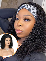 cheap -16 250g Synthetic Kinky Curly Short Hair Wig With Scarf Heat Resistant Synthetic HeadBand Wig Natural Color Wigs For Women Daily Cosplay