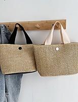 cheap -Women's Bags Top Handle Bag 2021 Holiday Beach Black Beige