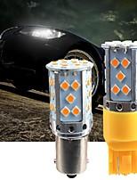 cheap -2 Pcs Car LED Turn Signal 1156 1157 7440 7443 SMD 3030 LED  Car Reverse Backup Stop Lights Rear Turn Signals Light Car Accessories Yellow Light