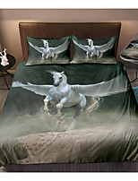 cheap -Flying Horse 3-Piece Duvet Cover Set Hotel Bedding Sets Comforter Cover with Soft Lightweight Microfiber(Include 1 Duvet Cover and 1or 2 Pillowcases)