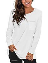 cheap -women's long sleeve t shirt women tunic tops for leggings casual blouses white s