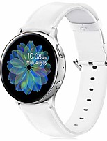 cheap -pu leather bands compatible with samsung galaxy watch active/active 2/galaxy watch 42mm/40mm watch band,soft classic pu leather quick release replacement straps for women men