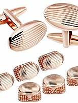 cheap -metal jewelry cufflinks and studs set for men - best gifts for wedding business formal event