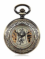 cheap -vintage pocket watch antique mechanical pocket watch punk mechanical skeleton pocket watch with chain as valentine's day unisex simple retro mechanical watch pocket watch with chain