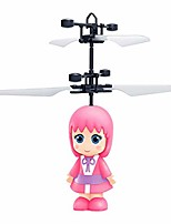 cheap -flying mini rc infraed induction the robot flashing light toys for kid gifts toy (pink)