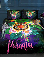 cheap -Animal Paradise 3-Piece Duvet Cover Set Hotel Bedding Sets Comforter Cover with Soft Lightweight Microfiber For Holiday Decoration(Include 1 Duvet Cover and 1or 2 Pillowcases)