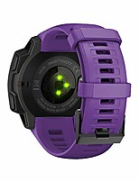 cheap -replacement for garmin instinct 22mm strap bands,silicone watch band compatible for garmin instinct 22mm. (purple)