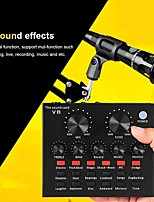 cheap -V8 Audio Interface Usb Sound Card Webcast Audio Microphone Live Sound Card Usb Bluetooth External Function For Phone Pc