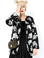 cheap -Long Sleeve Coats / Jackets Faux Fur Party / Evening / Office / Career Bolero With Floral
