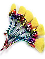 cheap -®2017 crazy hot 6pcs/set professional rose shape contour makeup brushes foundation powder make up brushes set beauty blush brush pincel maquiagem (colorful handle yellow hair)