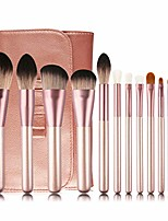 cheap -makeup brush sets,12 pcs makeup brushes quality professional makeup brush sets for foundation powder eye make up brush set with travel pu cosmetics bag for women gifts