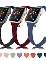 cheap -bands compatible with apple watch 38mm 40mm 42mm 44mm, slim thin narrow soft silicone breathable replacement sport accessory strap wristband compatible for iwatch series 5/4/3/2/1