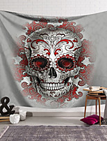 cheap -Wall Tapestry Art Decor Blanket Curtain Hanging Home Bedroom Living Room Decoration Polyester Fiber Still Life Weird Gray Skull with Red Pattern