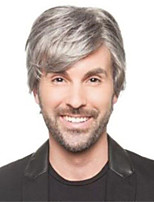 cheap -Synthetic Wig Curly Short Bob Wig Short Silver grey Synthetic Hair Men's Soft Cool Silver