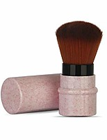 cheap -makeup brush for blush, powder, foundation, concealer retractable kabuki cap with recycled and sustainable materials cruelty free synthetic taklon bristles travel cosmetic brushes(pink)