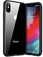 cheap -hd clear for iphone x case / iphone xs case with tempered glass [non-yellowing& full protection] iphone x / xs case hard back& soft silicone bumper protective cover mobile phone cover for