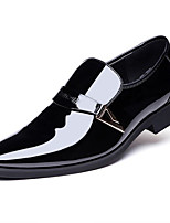 cheap -Men's Oxfords Business Casual Daily Office & Career Walking Shoes PU Breathable Non-slipping Wear Proof White Black Brown Spring Fall