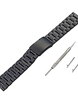 cheap -watch accessory band, 22mm edelstahl armband schnellverschluss uhrenarmband for pebble time for pebble time 2,sporting goods accessories (black)